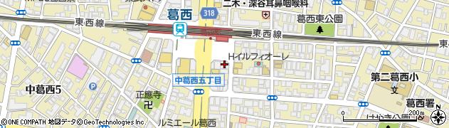 メガネのアイワ 葛西店周辺の地図