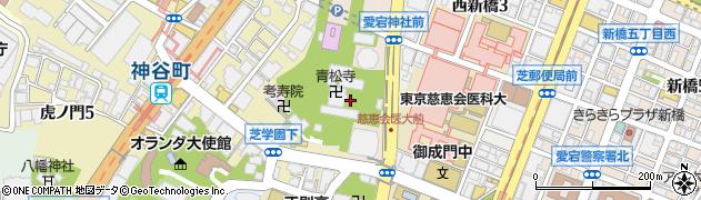 東京都港区愛宕周辺の地図