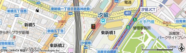 東京都港区東新橋周辺の地図