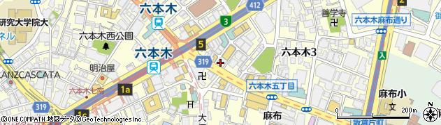 てけてけ 六本木店周辺の地図