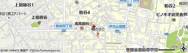 東京都世田谷区粕谷周辺の地図