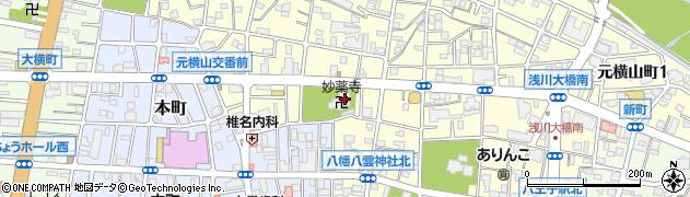 妙薬寺周辺の地図