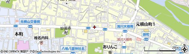 東京都八王子市元横山町周辺の地図