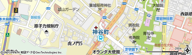 東京都港区虎ノ門4丁目3-20周辺の地図