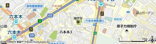 善学寺周辺の地図