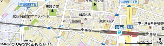 東京都江戸川区中葛西周辺の地図