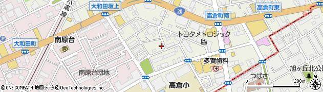 東京都八王子市高倉町周辺の地図
