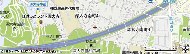 東京都調布市深大寺南町周辺の地図