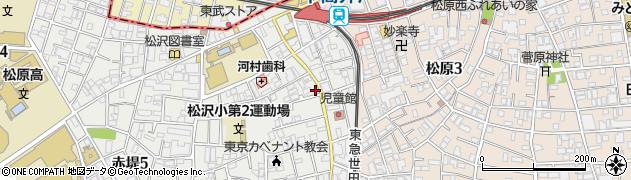 東京都世田谷区赤堤周辺の地図