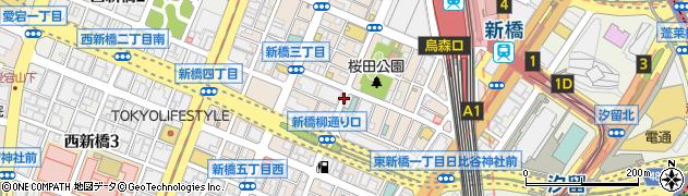 東京都港区新橋周辺の地図