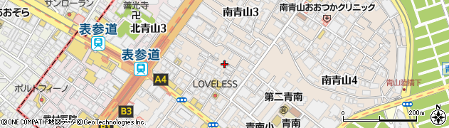 東京都港区南青山周辺の地図