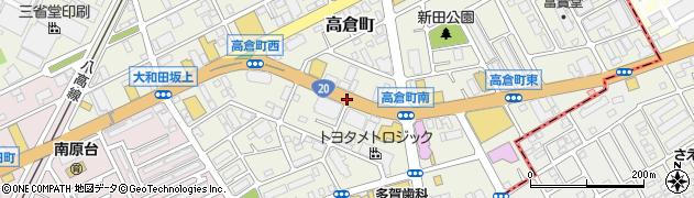 高倉町三叉路東周辺の地図