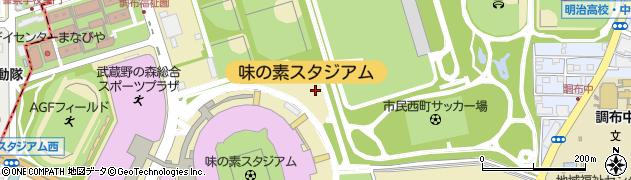 東京都調布市西町周辺の地図
