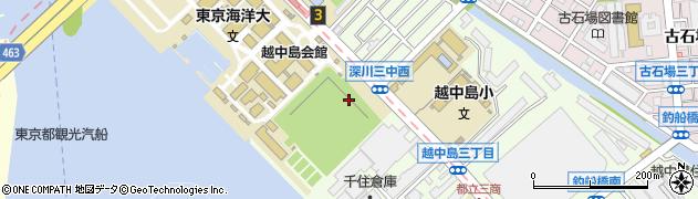 東京都江東区越中島周辺の地図