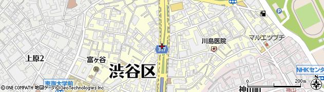 東京都渋谷区富ケ谷周辺の地図