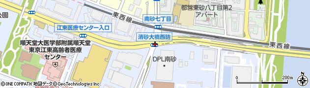 清砂大橋西詰周辺の地図