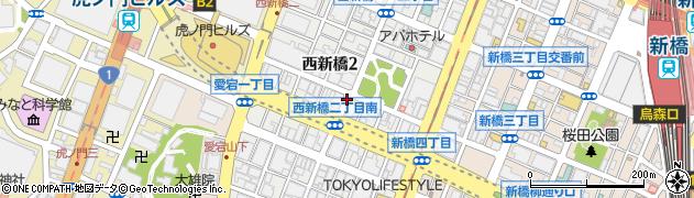 東京都港区西新橋周辺の地図