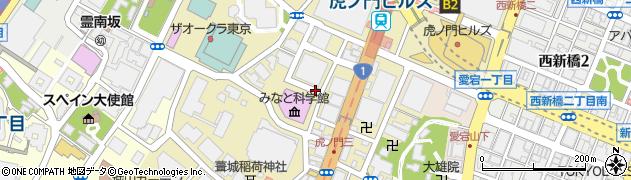 東京都港区虎ノ門周辺の地図