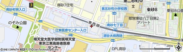 東京都江東区新砂3丁目4周辺の地図