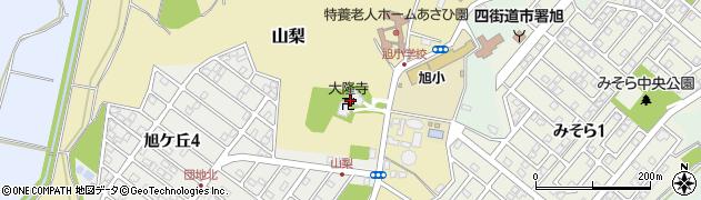 大隆寺周辺の地図