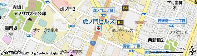 東京都港区周辺の地図