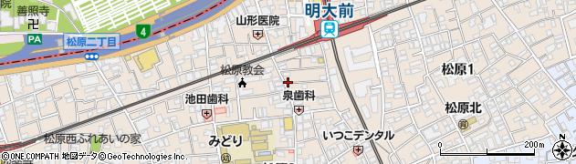 東京都世田谷区松原周辺の地図