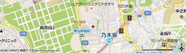 東京都港区南青山1丁目18周辺の地図