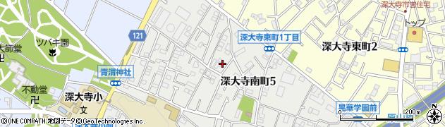 東京都調布市深大寺南町5丁目周辺の地図