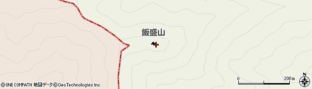 飯盛山周辺の地図