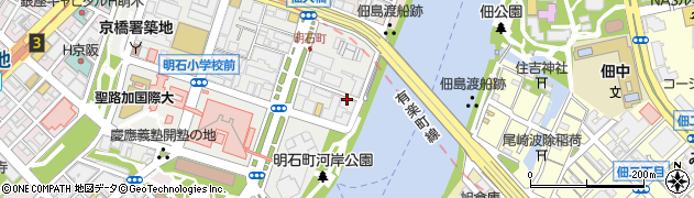 東京都中央区明石町周辺の地図