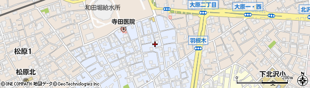 東京都世田谷区羽根木周辺の地図