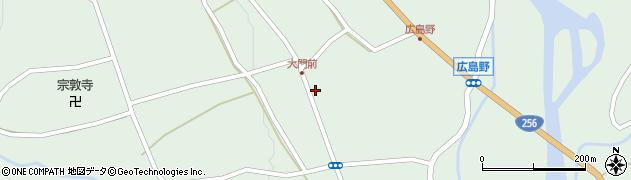岐阜県中津川市付知町(下大門)周辺の地図