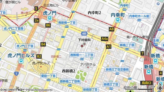 〒105-0003 東京都港区西新橋の地図