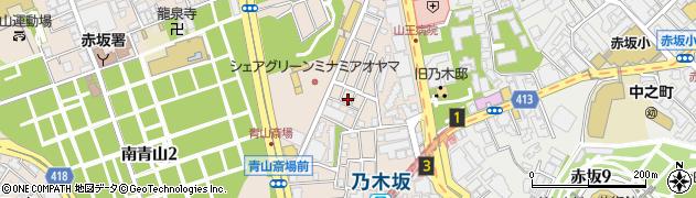 東京都港区南青山1丁目周辺の地図