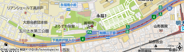 託法寺周辺の地図