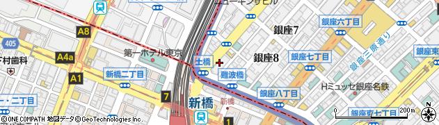 東京都中央区銀座8丁目4-17周辺の地図