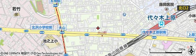 東京都渋谷区大山町周辺の地図