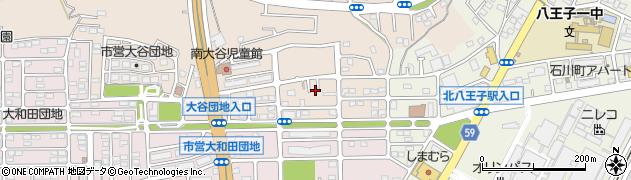 東京都八王子市大谷町周辺の地図