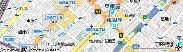 東京都中央区銀座5丁目12周辺の地図