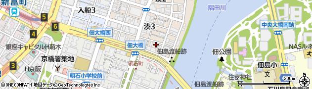 東京都中央区湊3丁目周辺の地図