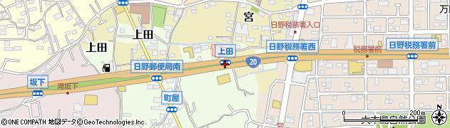 上田周辺の地図
