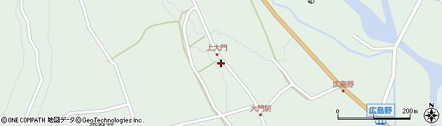 岐阜県中津川市付知町(上大門)周辺の地図