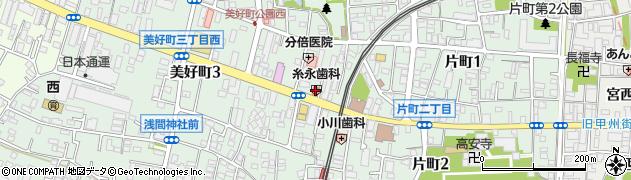 銀のさら 府中店周辺の地図