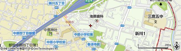 東京都三鷹市新川4丁目周辺の地図