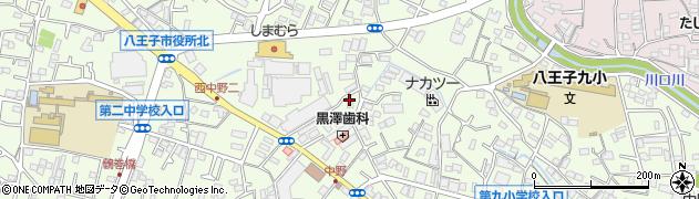 東京都八王子市中野上町周辺の地図