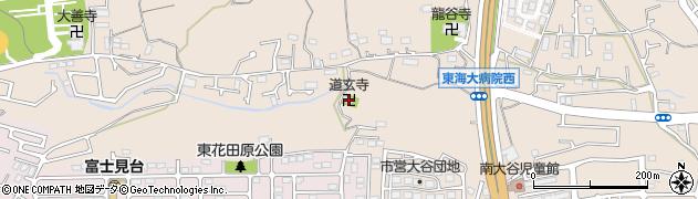 道玄寺周辺の地図