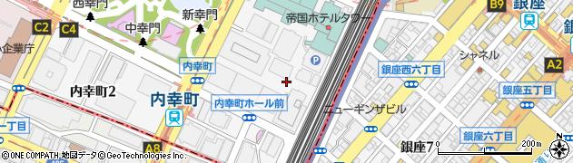 東京都千代田区内幸町周辺の地図