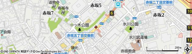 東京都港区赤坂周辺の地図