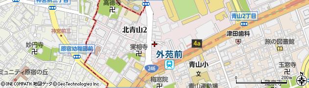 東京都港区北青山周辺の地図