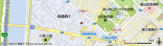 東京都江戸川区西葛西1丁目12周辺の地図